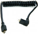 MICRO (jobbos L alak)-MICRO HDMI spirál kábel (30 cm)